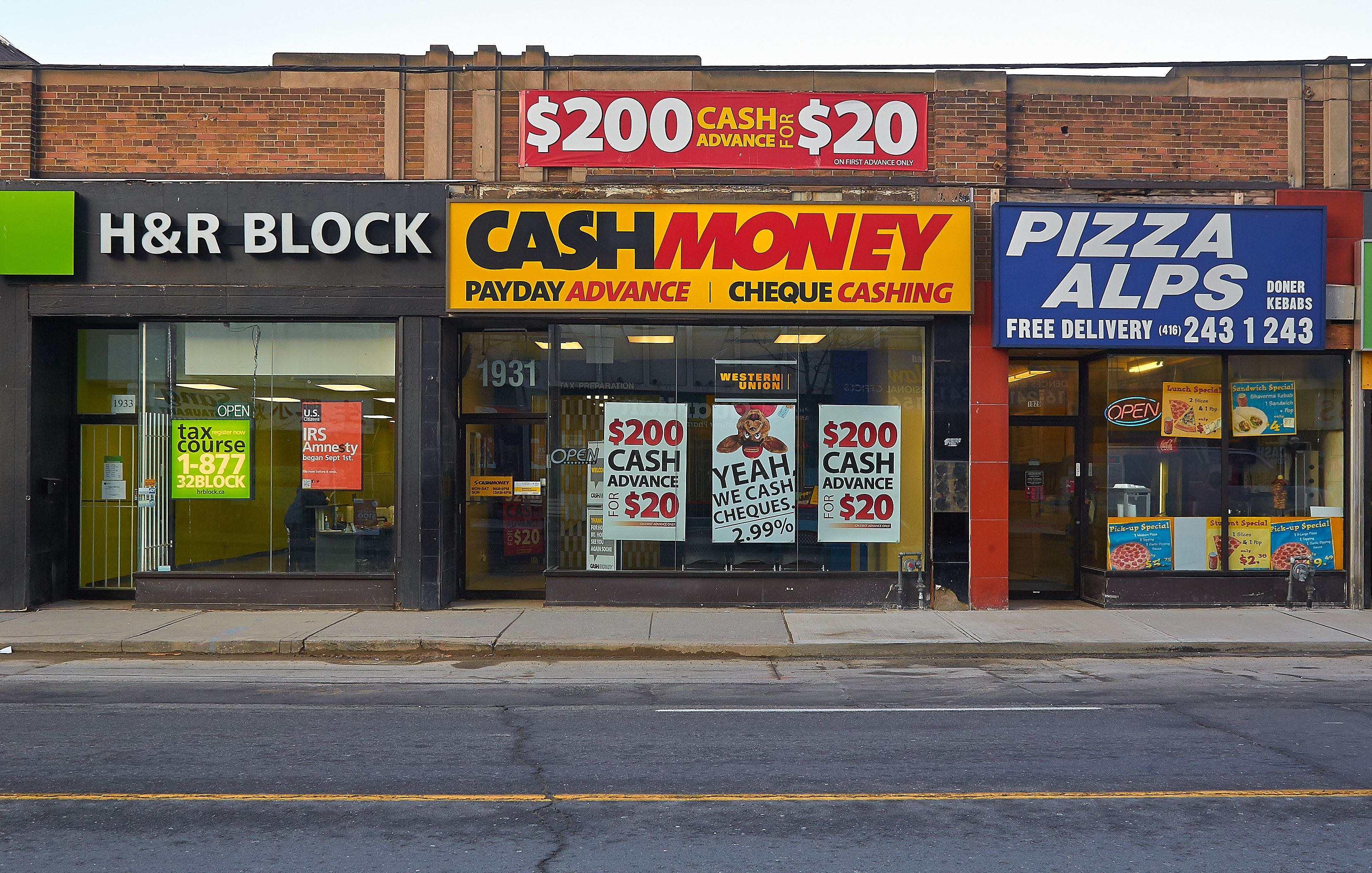 Rent, retail, day loan, cash for gold, Toronto West
